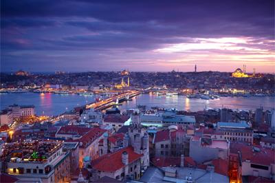 Панорама ночного Стамбула