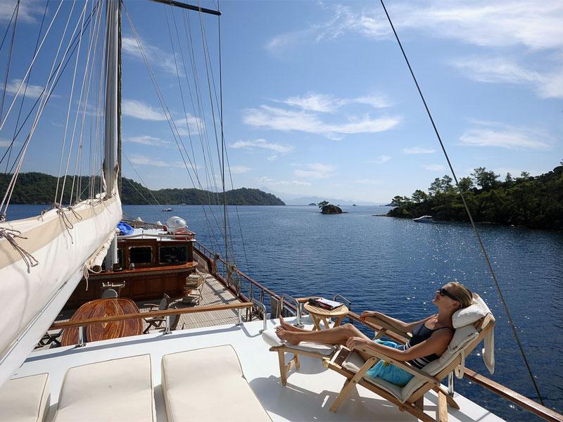 На яхте можно насладиться самым уединенным отдыхом